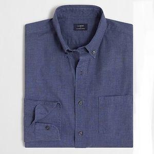 J Crew | Heathered Cotton Shirt Blue Size Medium
